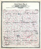 County Map - School District, Green County 1918